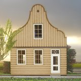 Zaans poppenhuis. type bolleklokgevel, schaal 1op12;  schaal 1:12; Poppenhuizen; doe-het-zelf; modelbouw; poppenhuis; victoriaa