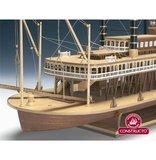 Mississippi Steamboat Robert E. Lee; houten modelbouw; CONSTRUCTO; modelbouw boot; schaal 1op150; schaal 1:150; radarboot; stea