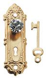 deurknop; Poppenhuis; schaal 1 op 12: 1op12; poppenhuis; bouwelementen poppenhuis; poppenhuis bouwmaterialen; bouwelementen pop
