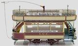 Tram London 106 voor spoor G; 53008;  London 106; spoor G; modelbouw tram OcCre; Occre modelbouw; modelbouw; nederlandse bouwbe