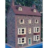 daktegels; dakbedekking; stenen dakpannen poppenhuis; modelbouw dakpannen; mini dakpannen; Poppenhuis; schaal 1 op 12: 1op12; p