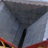 leisteen; dakbedekking; stenen dakpannen poppenhuis; modelbouw dakpannen; mini dakpannen; Poppenhuis; schaal 1 op 12: 1op12; po