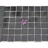 Echte keramische tegels, 10*10*2 mm, gemarmerd zwart_