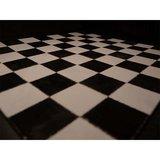 Echte keramische tegels, 19*19*2 mm, zwart/wit_