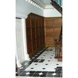 Decoratieve keramische tegels, 19*19*2  mm, zwart/wit_