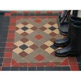 Victoriaanse tegels 8.5*8.5*2 mm, kleur: bruin_