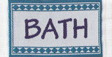 Badmat; Poppenhuis 1:12; 1op12; inrichting voor poppenhuizen; poppenhuizen;