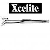 Pincet Xcelite met spitse gebogen puntenmet stompe punten, normaal gesloten