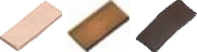 Platte leisteen nokpan wit 12x5x1 mm