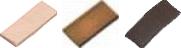 Platte leisteen nokpan rood 12x5x1 mm