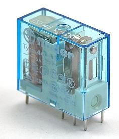 Monostabiel printrelais 6Vdc-10A.