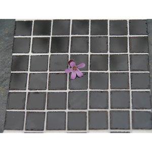 Echte keramische tegels, 10*10*2 mm, gemarmerd zwart