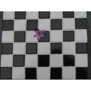 Echte keramische tegels, 10*10*2 mm, zwart/wit