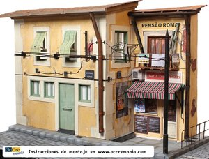 Bouwbeschrijving Diorama Tram Lisboa
