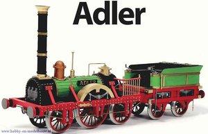 Bouwbeschrijving Adler stoomlocomotief