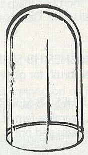 Koepelvitrine 56*100 mm