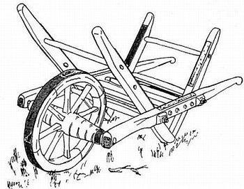 Houtskoolkruiwagen