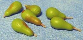 set van 6 stuks groene peren