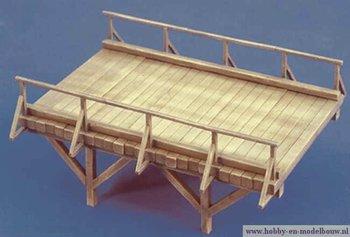 Bouwdoos voor een houten brug voor Spoor G