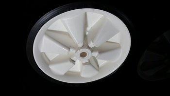 254 mm witte kunststof wiel met zwarte band