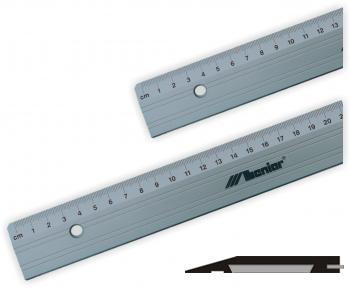 Platte aluminium liniaal met snijrand