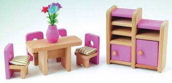 Eetkamer set met Barbie roze details