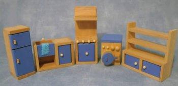 Keukenset met blauwedetails