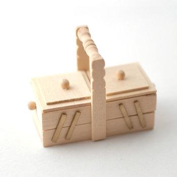 Blank houten naaibox