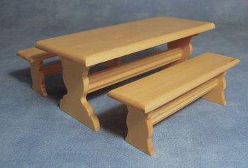 Picknic tafel met 2 banken