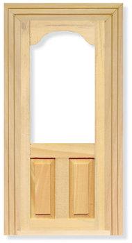 Binnendeur met panelen en raamopening