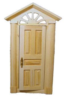 blank houten buitendeur
