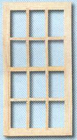 Houten raam met roeden