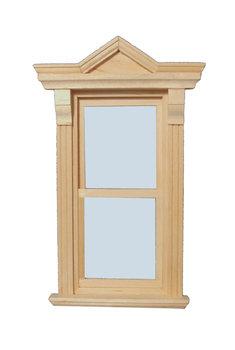Blank houten raam