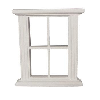 Geschilderd raamkozijn met 4 ramen