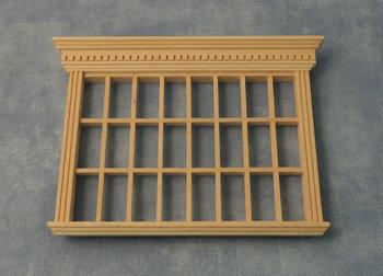 Breed raam met panelen