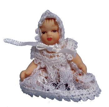 Klein baby in wit pakje