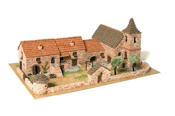 Diorama van echte baksteentjes, schaal 1:87