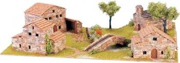 Diorama 1 van echte baksteentjes, schaal 1:87