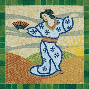 Mozaíek Japanse dame