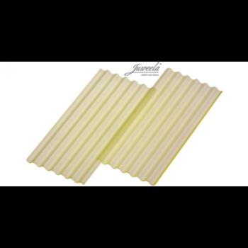 Golfplaat met 6 golven per 15 stuks, geel transparant