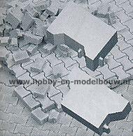 Flexyway Set met losse rand- en halve stenen, schaal 1:32-1:35