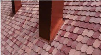 Platte dakpan beverstaart rood 1500 stuks