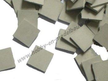Stoeptegels donkergrijs 11*11*1 mm, 420 stuks