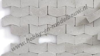 Straatstenen donkergrijs Type W 1:43/50, 2000 stuks
