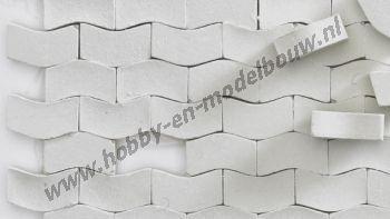 Straatstenen middelgrijs Type W 1:43/50, 2000 stuks