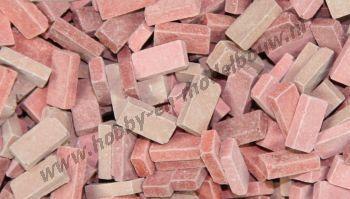 Gemengde rode steen 1:72, 5000 stuks