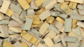 Gemengde beige steen 1:72, 2000 stuks