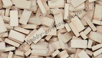 Licht terracotta steen 1:72, 2000 stuks