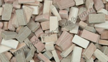 Gemengde terracotta steen 1:72, 2000 stuks