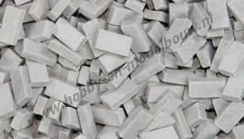 Donkergrijze steen 1:87, 3000 stuks